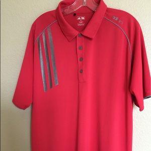 Men's Adidas Golf Shirt (XL) Salmon